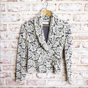 Charlie Robin Anthropologie Wool Lace DRing Blazer